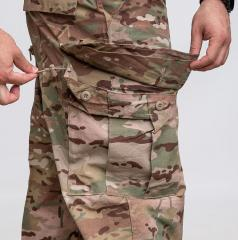 US FRACU Pants, OCP, surplus. Cargo pockets with button closure. Note the adjustment cords.