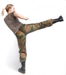 BW women's Cargo Pants, Flecktarn, surplus.