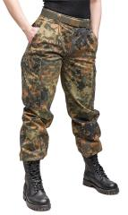 BW women's field trousers, Flecktarn, surplus
