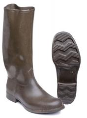 Swedish rubber boots, olive, suplus