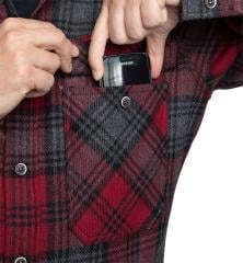 Särmä Wool Flannel Shirt. The pockets are large enough for most smart phones.