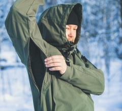 Särmä Windproof Anorak. Two-way zippers can be used to regulate ventilation.