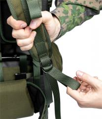Särmä TST RP80 recon pack. Shoulder harness lower adjustment and quick release tab.