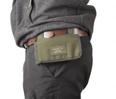 Savotta Rekyyli Ammo Pocket S7. The pouch can be hung from the belt with its own straps.