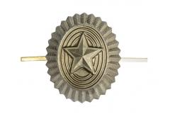 Russian enlisted men's cockade, metal, subdued, surplus