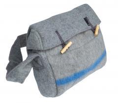 Slow Stone shoulder bag, wool blanket material, surplus