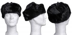 Latvian fur hat, black, unissued.