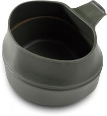 Swedish folding cup, green, surplus