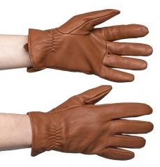 Mutka deerskin gloves, brown