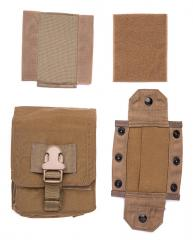 Eagle Industries FSBE M-60 Ammo Pouch, Coyote Brown, surplus. Comes with a stiff divider, hooks cover and dump pouch top.