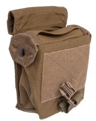 Eagle Industries FSBE M-60 Ammo Pouch, Coyote Brown, surplus. Elastic mouthpiece with snap-fasteners. The flap can be rolled out of the way.