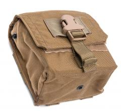 Eagle Industries FSBE M-60 Ammo Pouch, Coyote Brown, surplus. Strong and quick buckle and drain grommet in the bottom.