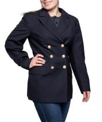 Bundesmarine women's pea coat, dark blue, surplus