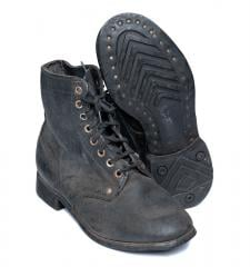 Soviet combat boots with old model rubber soles, surplus, 37