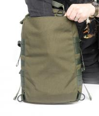 Särmä TST CP15 Combat pack. Flat pocket for stiffener or padding.