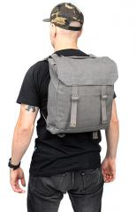 Danish Pattern 37 Large Pack, grey, with shoulder straps, surplus. What a compact pack!