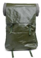 Czech M85 vinyl rucksack, surplus. The lid fastened to the upper buckles.