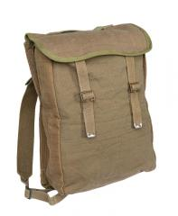 Danish Pattern 37 style pack, green/tan, with shoulder straps, surplus