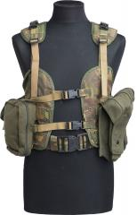 Dutch M93 ALICE-style combat vest, DPM, surplus. A couple of MOLLE pouches attached to the vest. Pouches not included.