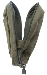 Blackhawk Medical Pouch, green, surplus. The elastic bands keep the pouch ajar.