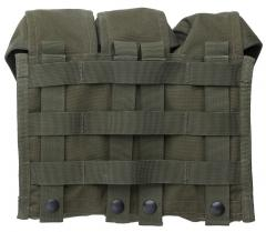 Blackhawk AK/M4 Triple Mag Pouch, green, surplus. The usual PALS attachment in 6x5 size.