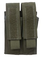 Blackhawk Double Pistol Mag Pouch, green, surplus