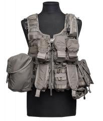 Swedish SVS 12 Combat Vest With Pouches, Green, surplus
