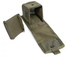 Blackhawk Double G36 Mag Pouch, green, surplus. Snap & hook-n-loop closure, included is a separate divider.