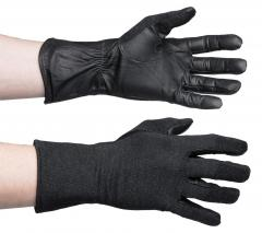 Dutch aviator gloves, leather/Nomex, black, surplus