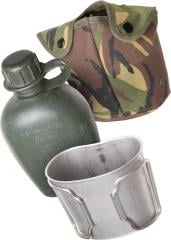 Dutch 1Q Canteen with Pouch and Cup, Surplus