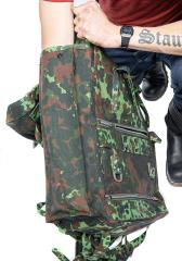 Belgian Paratrooper Pack, Flecktarn, Surplus. For those who like to dig deeper, here's the tall side pouch.