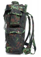 Belgian Paratrooper Pack, Flecktarn, Surplus. Two pouches on one side.