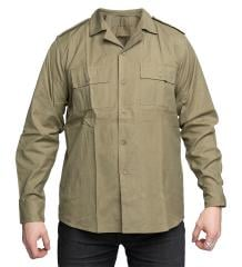Romanian Service Shirt, with Open Collar, Olive Drab, Surplus