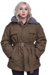 Czech parka with liner, olive green, surplus. In some cases the belt has gone missing along the way.