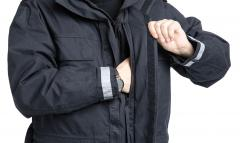 Dutch Field Jacket w. Membrane and Liner, Blue, Surplus. Roomy side-opening breast pockets