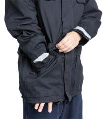 Dutch Field Jacket w. Membrane and Liner, Blue, Surplus. The jacket has two zippered openings that allow you to touch yourself underneath the jacket.