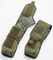 Särmä TST RK Magazine / Multipurpose Pouch. As an AK double mag pouch. Note the shock cord added around the pouch.