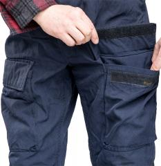 Dutch Navy Mission Pants, Navy Blue, Surplus. Cargo pockets have hook and loop closure.