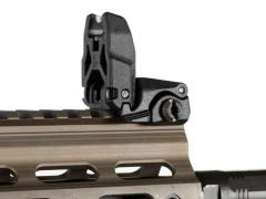 Magpul MBUS Sight, Front. The sight stands firm but not locked: if forced, it folds out of the way.