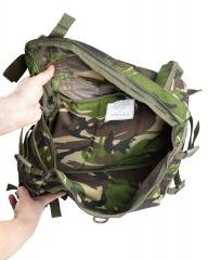 Romanian Combat Rucksack with Daypack, DPM, Surplus, Unissued. Daypack has only one compartment but carrying straps on the sides and at the top and the bottom.