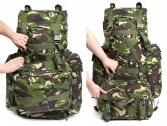 Romanian Combat Rucksack with Daypack, DPM, Surplus, Unissued. The daypack can be used as a big general purpose pouch or separately.