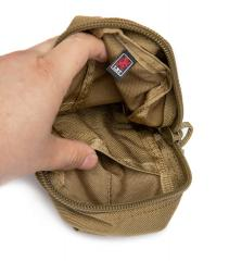 London Bridge Trading Small Utility Pouch, Surplus. Small flat pocket on the inside.