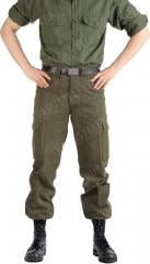 Austrian M75 field trousers, olive drab, surplus