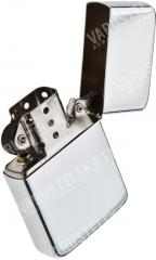 Mil-Tec gasoline lighter, polished steel