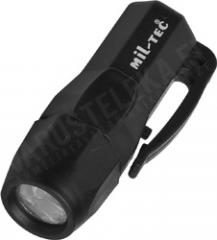 Mil-Tec 3 led mini torch, black