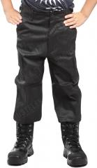 Mil-Tec kids BDU trousers, black