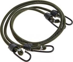 Mil-Tec bungee cords with hooks, pair, olive drab