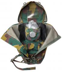 Belgian BEM 4 GP gas mask with carrying bag, surplus. A view inside.