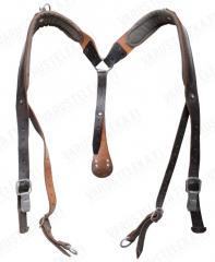 Austrian Y-suspenders, leather, surplus
