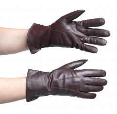 Dutch leather gloves, lined, brown, surplus